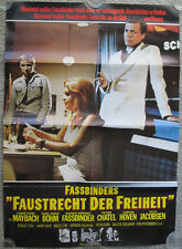 ULTRA RARE 1975 Rainer Werner Fassbinder FOX AND HIS FRIENDS German Movie Poster