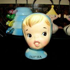 Vintage NAPCO PAPRIKA Miss Cutie Pie Spice Shaker Girl - Blue