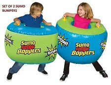 Set of 2 Sumo Boppers Outdoor Indoor Play Inflatable Bumper Ball Soccer Suits