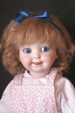 """perruque Mohair pour poupée ancienne-16/17-Fait en FRANCE-Mohair doll wig Sz6.5"""""""