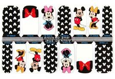 14 Nail Patch-14 Adesivi Plastici Unghie-Mickey Mouse-Nail Art Patch-Manicure!!