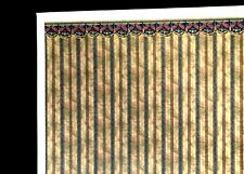 DOLLHOUSE MINIATURE WALLPAPER - FABRIC SWAG ..#841B