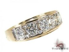 Mens Diamond Ring Round Cut G Color 14k Yellow Gold 1.15ct