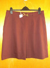 Gerard Darel Wool Blend A-Line Fully Lined Skirt UK 16 Dark Purple BNWT