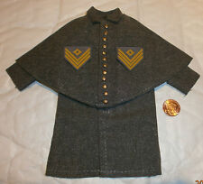 ITPT ACW confederate greatcoat  12 button 1/6th scale toy accessory