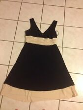 Jones New York Dress Woman 16w 16 W Black Cream