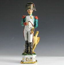 "Continental Porcelain Napoleonic Officer Figurine with Eagle, ""N"""