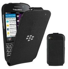 Original BlackBerry Leder Flip Shell Handytasche für BlackBerry Q10 - Schwarz