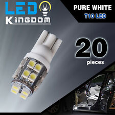 20x T10 20-SMD LED White Super Bright Car Interior Lights Bulb 194 168 2825 W5W