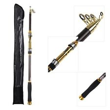 Portable Fishing Pole 2.1M 6.89FT Telescopic Fishing Rod Travel Spinning Carbon