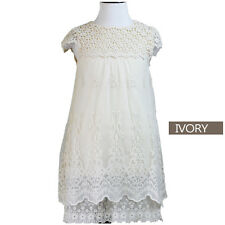 New Flower Girl Dress Princess Vintage Special Occasion Party Wedding Lace MACY