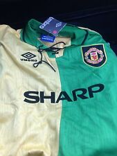 MANCHESTER UNITED SHIRT TOP Cantona 7 Size M NEWTON HEATH RETRO JERSEY