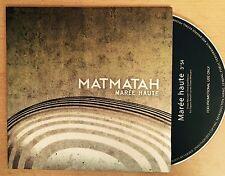 Offre 48h: MATMATAH Rare CD Single MAREE HAUTE Poch. Carton 2017 Promo