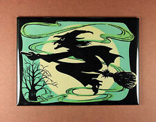 Halloween Witch Magnet - Halloween Decoration Flying Broom Besom Crone