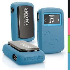 Blau Silikon Tasche Hülle für Sandisk Sansa Clip Jam MP3 2015 Gel Schutz Case