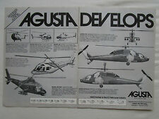 5/1981 PUB AGUSTA 101 G 105 106 129 109 CIVIL MILITARY HELICOPTER ORIGINAL AD