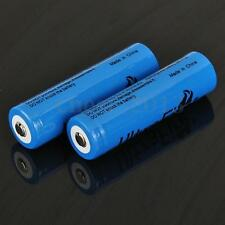 2pcs Power 18650 3000mAh 3.7V Li-ion Rechargeable Battery for Flashlight Torch