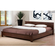 Alsa Modern Bedroom Furniture Wenge Finish No Box Spring King Size Platform Bed