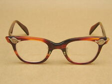Vintage American Optical AO Tortoise Shell Horn Rim Cat Eye Glasses Frames