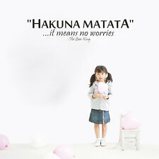 New Hakuna Matata Vinyl Wall Sticker Removable Lettering Art Mural Decor