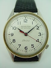 Hamilton Electric Railroad Special RR Stainless Vintage 505 Wrist Watch