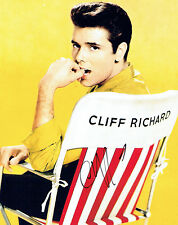 Cliff RICHARD SIGNED Autograph 10x8 Photo Music LEGEND AFTAL COA Summer Holiday