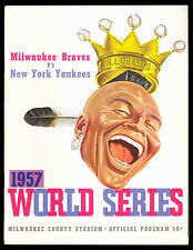 1957 World Series Program (Milwaukee County Stadium) Braves vs. N.Y. Yankees