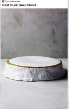 NEW ANTHROPOLOGIE CAST TRUNK CAKE STAND DOROTEA CERAMICS SPANISH DESIGN~SOLD OUT