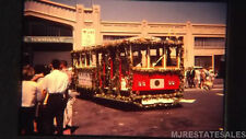 1965 San Francisco Trolley Car/Bus Decorated Flower Show Muni K-Line 35mm Slide
