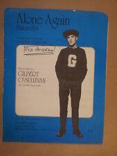 song sheet ALONE AGAIN Gilbert O' Sullivan 1972