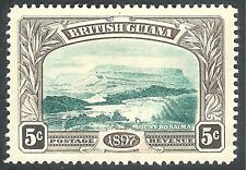British Guiana 1898 deep-green/sepia 5c crown CA mint SG219