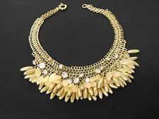 J. Crew Rhinestone Vintage Gold Necklace