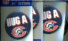 CHICAGO BEARS HUG A BEAR 3 1/2 INCH BUTTON LOT OF 5 4134J