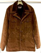 West Wind Sportswear Rust Brown Vtg Velour Hipster Jacket Coat Mens L