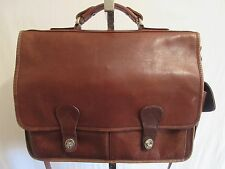 Vtg. Brown Leather Briefcase/Laptop/Messenger/Shoulder Bag