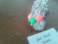 Message in a Bottle Get Well Soon fluorscent Beads