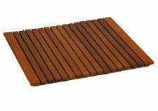 Bare Decor Lykos String Spa Shower Mat in Solid Teak Wood Oiled Finish, Large: 2