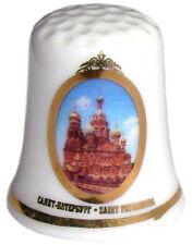 Dé à coudre russe Deux cathédrales Collection Dé a coudre en Porcelaine