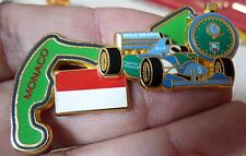 BEAU PIN'S F1 FORMULA ONE BENETTON CHRONO GRAND PRIX MONACO N°TE 300 EX