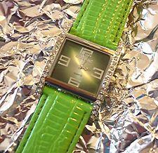 Wristwatch °° Excellanc  Damenuhr mit PU-Lederarmband und Strass Ex021116