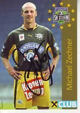 FOOTBALL carte joueur MICHAEL ZECHNER équipe SK STURM GRAZ signée