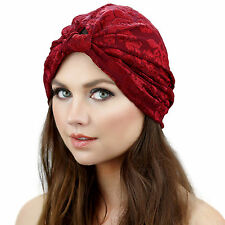Kristin Perry Flapper Stretch Full Turban Headband Great Gatsby Ear Warmer Hat