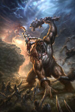 2010 GOD OF WAR 3 VIDEO GAME POSTER scary ADVENTURE monsters FIGHT 24X36