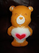 Vintage Care Bear Orange Tenderheart Pillow Decoration Plush Doll 12""