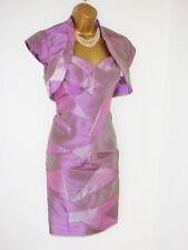 Vestido irresistible y Balero Chaqueta Púrpura Look De Satén Rosa Talla 12
