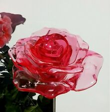 4x SOLAR RED ROSE FLOWER GARDEN PATH STAKE PATIO YARD COLOR CHANGE LED LIGHT
