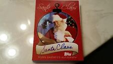 2007 TOPPS VERY RARE AUTOGRAPHED SANTA CLAUS BASEBALL CARD # SCA-SC