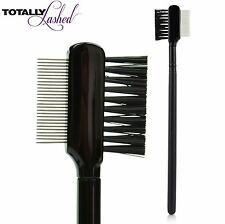 TOTALLY Lashed - Eyelash Definer Precision Lash Mascara Comb Metal Teeth & Brush