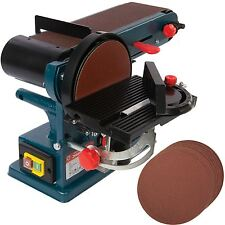 350W Bench Belt & Disc Sander 390mm Sander With 10  Free 150mm  Sanding Discs