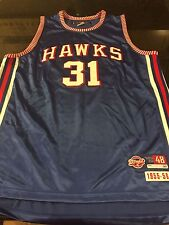 Jason Terry Authentic Atlanta Hawks Jersey Size 48 Hardwood Classics 1955-1956